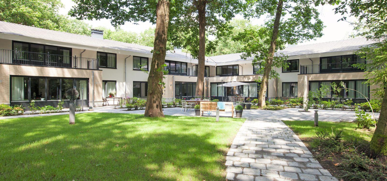 De tuin van Villa Hoefstaete